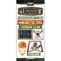 Scrapbook Customs - Cardstock Stickers - Lacrosse Wood