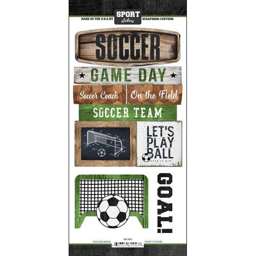 Scrapbook Customs - Cardstock Stickers - Soccer Wood