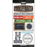 Scrapbook Customs - Cardstock Stickers - Volleyball Wood
