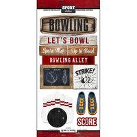Scrapbook Customs - Cardstock Stickers - Bowling Wood