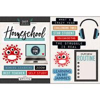 Scrapbook Customs - Cardstock Stickers - Covid-19 Homeschool