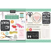 Scrapbook Customs - Cardstock Stickers - Sewing