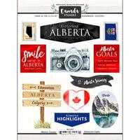 Scrapbook Customs - Sights Collection - Cardstock Stickers - Alberta Canada