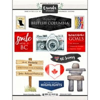 Scrapbook Customs - Sights Collection - Cardstock Stickers - British Columbia Canada