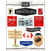 Scrapbook Customs - Sights Collection - Cardstock Stickers - Manitoba Canada