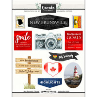 Scrapbook Customs - Sights Collection - Cardstock Stickers - New Brunswick Canada