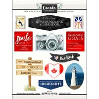 Scrapbook Customs - Sights Collection - Cardstock Stickers - Newfoundland Canada