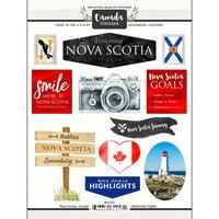 Scrapbook Customs - Sights Collection - Cardstock Stickers - Nova Scotia Canada