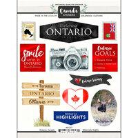 Scrapbook Customs - Sights Collection - Cardstock Stickers - Ontario Canada