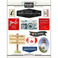 Scrapbook Customs - Sights Collection - Cardstock Stickers - Prince Edward Island Canada