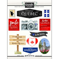 Scrapbook Customs - Sights Collection - Cardstock Stickers - Quebec Canada