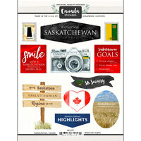 Scrapbook Customs - Sights Collection - Cardstock Stickers - Saskatchewan Canada