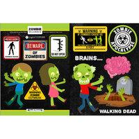 Scrapbook Customs - Cardstock Stickers - Zombie Road Signs