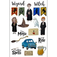 Scrapbook Customs - Magical Witch and Wizard Collection - Laser Die Cut Outs - Witch and Wizard 1