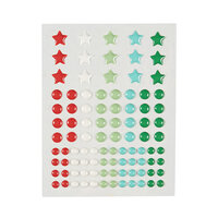 Fun Stampers Journey - Christmas - Enamel Dots - Party Burst