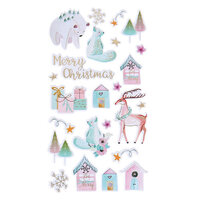 Fun Stampers Journey - Christmas - Puffy Stickers - Frosted Friends