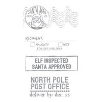 Fun Stampers Journey - Christmas - Unmounted Cling Rubber Stamps - Santa Approved