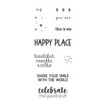 Fun Stampers Journey - Happy Place Collection - Cling Mounted Rubber Stamps - Share Your Smile