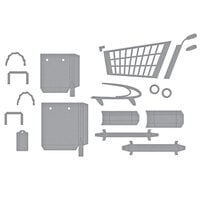 Spellbinders - Add To Cart Collection - Dies - 3D Shopping Cart and Shopping Bags Bundle