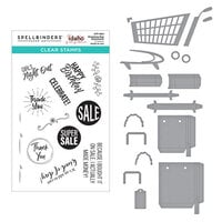 Spellbinders - Add To Cart Collection - Clear Photopolymer Stamps and Dies - Shopping Bag Sentiments, 3D Shopping Cart and Shopping Bags Bundle