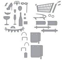 Spellbinders - Add To Cart Collection - Dies - 3D Shopping Cart, Shopping Bags and Shopping Cart Party On! Bundle