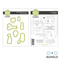Fun Stampers Journey - Clear Photopolymer Stamp and Die Set - Craft Happy