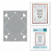 Spellbinders - Cut and Embossing Folder - Diamond Lace Frame