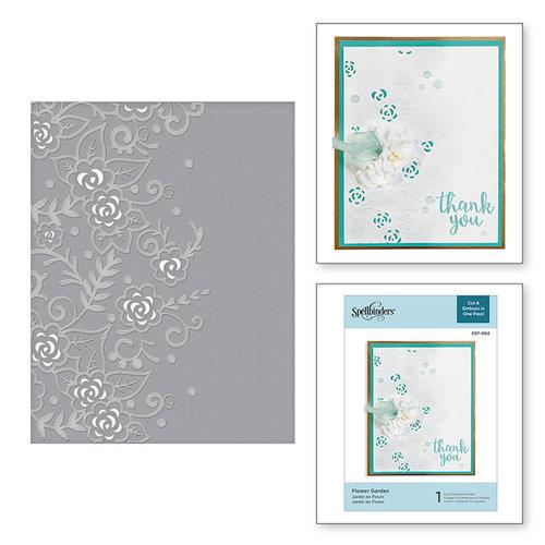 Spellbinders - Cut and Embossing Folder - Flower Garden