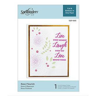 Spellbinders - Cut and Embossing Folder - Rose Flourish