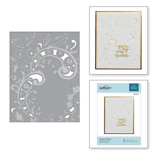 Spellbinders - Cut and Embossing Folder - Baroque Filigree