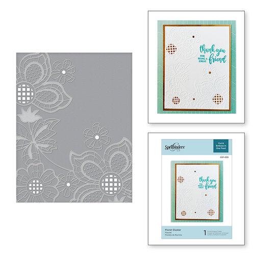 Spellbinders - Cut and Embossing Folder - Floret Cluster