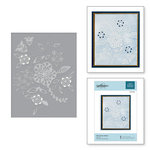 Spellbinders - Cut and Embossing Folder - Blooming Sprigs