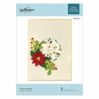 Spellbinders - Christmas - Holiday Cut and Emboss Collection - Cut and Embossing Folder - Laurel and Bows