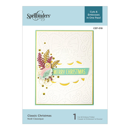 Spellbinders - Holiday Cut and Emboss Collection - Cut and Embossing Folder - Classic Christmas