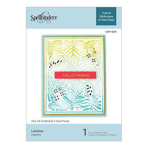 Spellbinders - Cut and Embossing Folder - Lahaina
