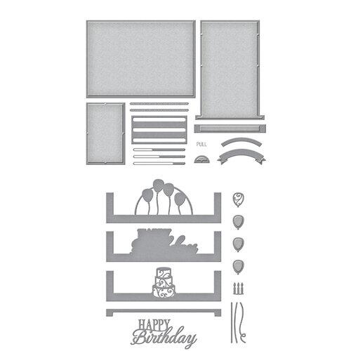 Spellbinders - Make A Scene Collection - Etched Dies - Celebration Scene Bundle