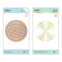 Spellbinders - Glimmer Hot Foil - Duo Lines Glimmer Plates and Etched Dies - Essential Circles