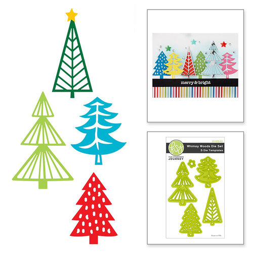 Fun Stampers Journey - Christmas - Dies - Whimsy Woods