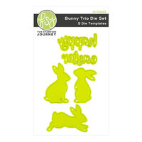 Fun Stampers Journey - Ready Set Spring Collection - Dies - Bunny Trio