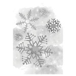 Spellbinders - Holiday Collection - Christmas - 3D Shading Cling Stamps - Cold Spell