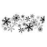 Spellbinders - Holiday Collection - Christmas - 3D Shading Cling Stamps - It's Snowing
