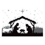 Spellbinders - Holiday Collection - Christmas - 3D Shading Cling Stamps - Savior