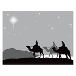 Spellbinders - Holiday Collection - Christmas - 3D Shading Cling Stamps - Three Kings