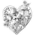 Spellbinders - 3D Shading Cling Stamps - Happy