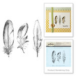Spellbinders - 3D Shading Cling Stamps - Feathers