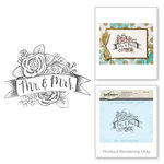 Spellbinders - 3D Shading Cling Stamps - Mr and Mrs