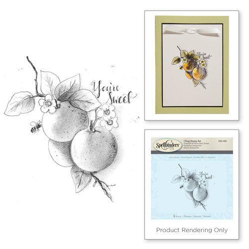 Spellbinders - 3D Shading Cling Stamps - You're Sweet Citrus