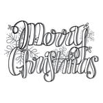 Spellbinders - Tammy Tutterow Collection - Christmas - Clear Acrylic Stamps - Merry Christmas