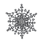 Spellbinders - Tammy Tutterow Collection - Christmas - Clear Acrylic Stamps - Doodle Snowflake