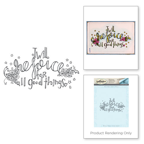 Spellbinders - Happy Grams 2 Collection - Rubber Stamps - Rejoice